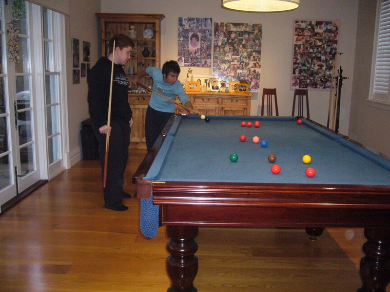 A relaxing game of billiards