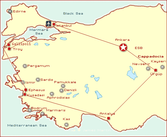2013 youth tour map gallipoli turkey
